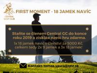 Číst dál: FIRST MOMENT - 18 jamek navíc do konce roku 2019